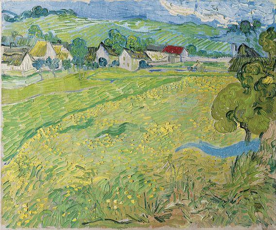 Vincent van Gogh. Les Vessenots à Auvers van 1000 Schilderijen