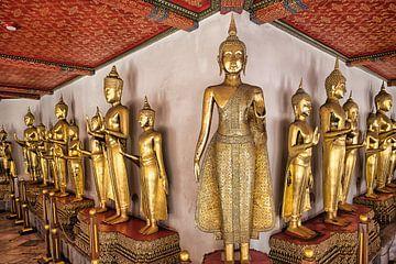 Gouden Boeddhabeeld Thailand van Bernd Hartner