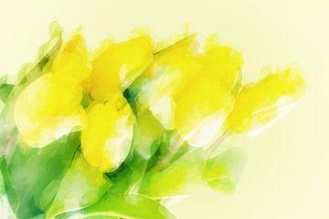 gelbe Frühlingstulpen van Dagmar Marina