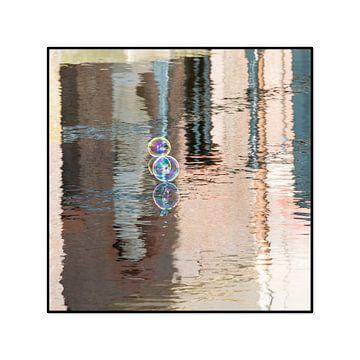 Zeepbellen spiegeling van