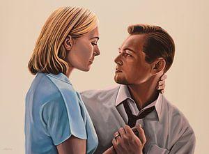 Kate Winslet and Leonardo DiCaprio Schilderij