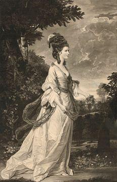 """Gräfin Harrington von """"Beauties of the Present Age"""", Valentine Green, nach Sir Jos"""