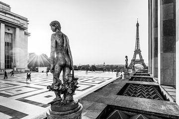 Place du Trocadéro in Paris / Schwarzweiss von Werner Dieterich