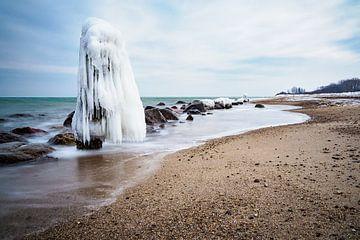 Winter time on the Baltic Sea coast. van Rico Ködder