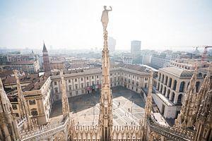 Uitzicht op Milaan