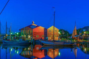 Elburg haven in de avond 1 van Han Kedde