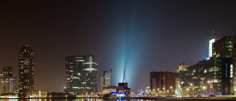 Nacht in Rotterdam. van Arjan van Dam