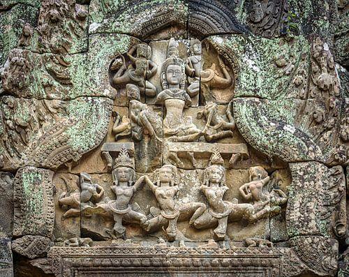 Danseressen in de tempel, Cambodja