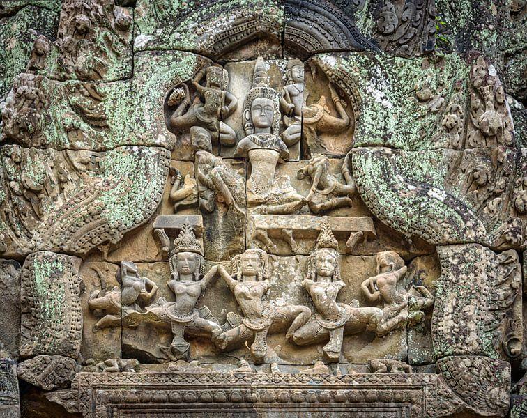 Tänzerinnen im Tempel, Kambodscha von Rietje Bulthuis