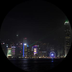 Hongkong bij nacht van rheinmain.from.above