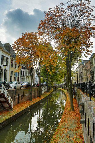 Zicht op de Nieuwegracht Utrecht