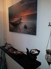 Klantfoto: Zanzibar sunset van Vincent Xeridat, op canvas