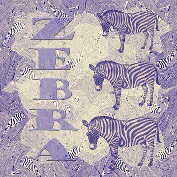 Zebra - paars van Christine Nöhmeier