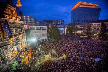Huldiging Roda JC op de Markt in Kerkrade na winnen finale Play-Offs van