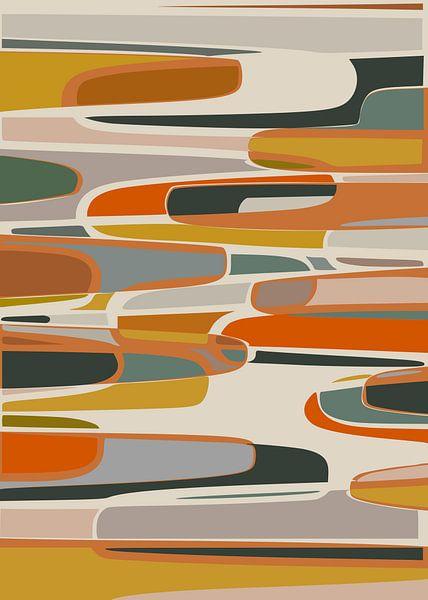 Abstrakte Komposition 1066 von Angel Estevez