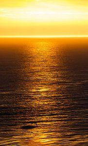 Ondergaande zon op eiland Helgoland
