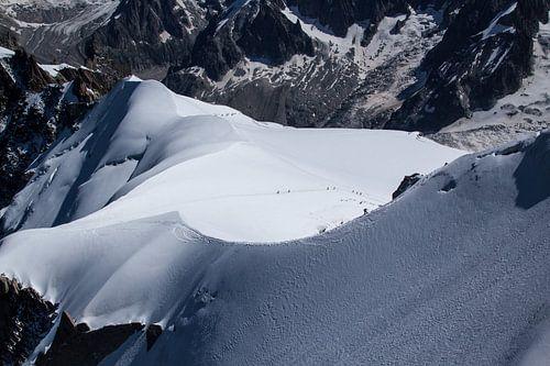 Mont Blanc beklimming van Roland Zimmermans