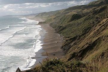 Kustlijn Noordereiland Nieuw-Zeeland  van Bijzonder Landschap