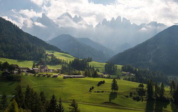 Kerkje in de Dolomieten