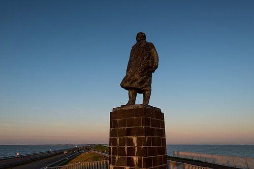 Standbeeld Lely Afsluitdijk