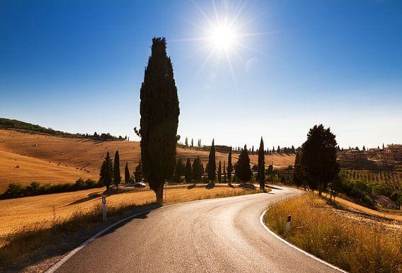 Toscaanse slingerweg