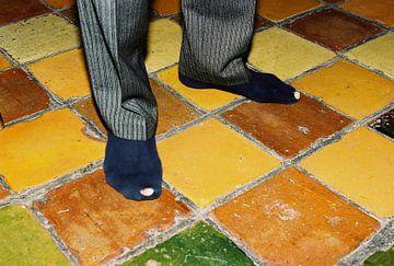 kapotte sokken van Hans Koreman