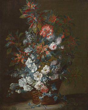 Fleurs dans un panier, Jean-Baptiste Monnoyer