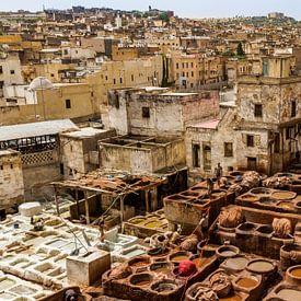 Leerlooierij in Fez van Easycopters