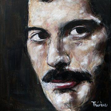 Portret van Freddie Mercury, Farrokh Bulsara van Therese Brals