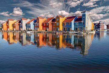 Reitdiephaven, spiegelingen van een vinexwijk. Groningen (stad) van Gert Hilbink
