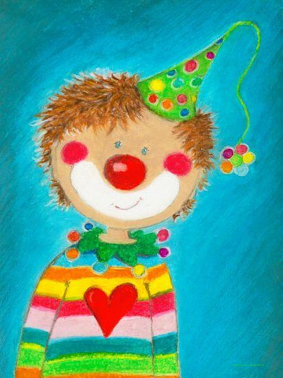 CLOWN JONG PEPINO - Kunst voor Kinder van Atelier BuntePunkt