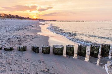 Buhnen am Strand von Zingst von Christian Müringer