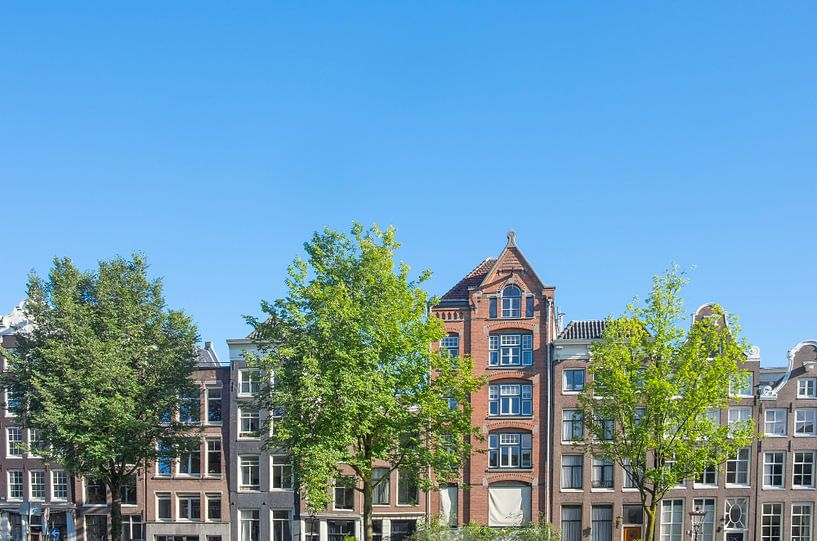 Gevels in de historische grachtengordel van Amsterdam van Sjoerd van der Wal