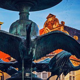 Kopenhagen - Storchenbrunnen / Amagertorv von Alexander Voss