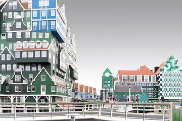 Postmodernistic Inverdan in Zaandam sur Roelof Foppen