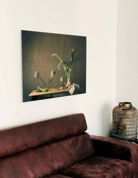 Klantfoto: Stilleven in 't groen, vtwonen van Monique van Velzen, op acrylglas