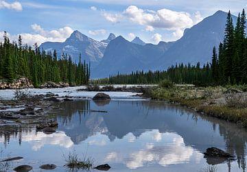 Athabasca River, Jasper National Park, Rocky Mountains, Alberta, Kanada von Alexander Ludwig