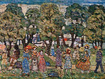 Maurice Prendergast-Unter den Bäumen