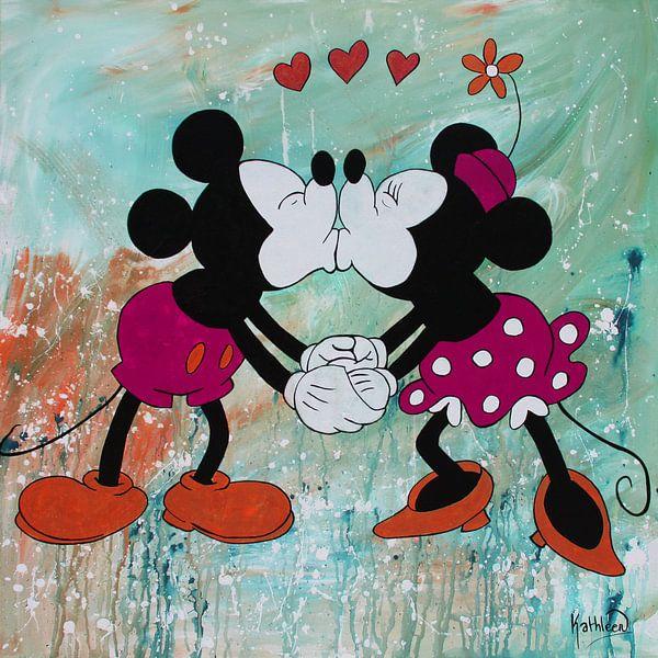 Micky Maus und Minnie Maus von Kathleen Artist Fine Art