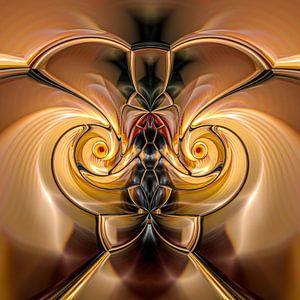 Phantasievolle abstrakte Twirl-Illustration 109/1