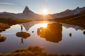 Avondstemming bij de Matterhorn van