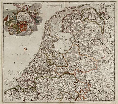 Belgium foederatum / Kaart van Nederland