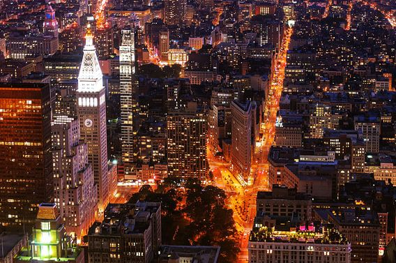 The Clocktower and Flatiron Building    New York van Kurt Krause
