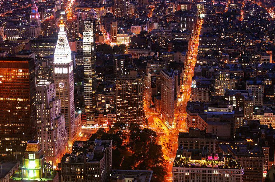 The Clocktower and Flatiron Building    New York