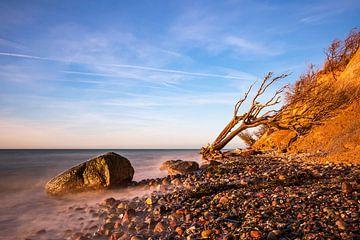 Le soir, sur la côte de la mer Baltique, près de Wustrow sur Rico Ködder