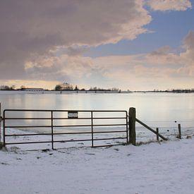 Winter in de Betuwe van Jose Lok