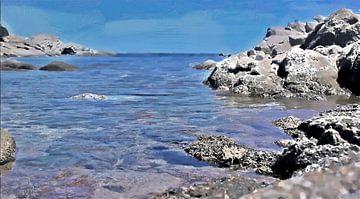 Rotsachtige Kust - Sardinië - Baia Sardinia - Costa Smeralda - Geschilderde Tekening