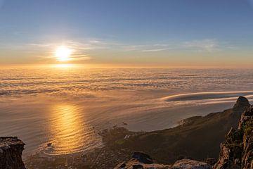 La mer près de Cape Town au coucher du soleil sur Dennis Eckert