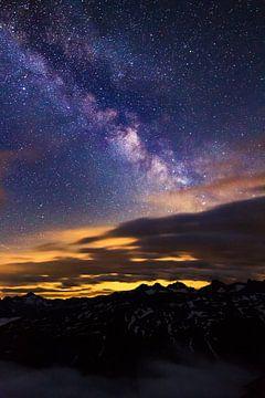 Melkweg Zwitserland  von Dennis van de Water