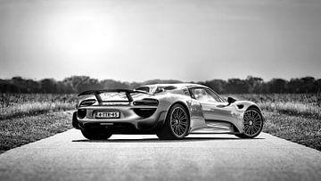 Porsche Spider 918 zwart/wit van